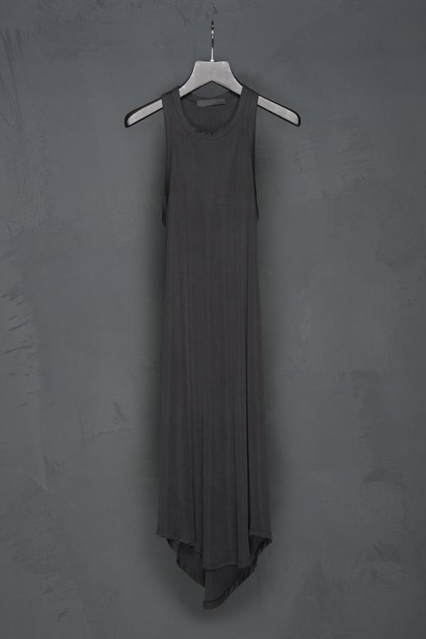 Racer Back Silk Jersey Dress