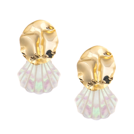 Mod + Jo Statement Earrings Sofia Shell Drops