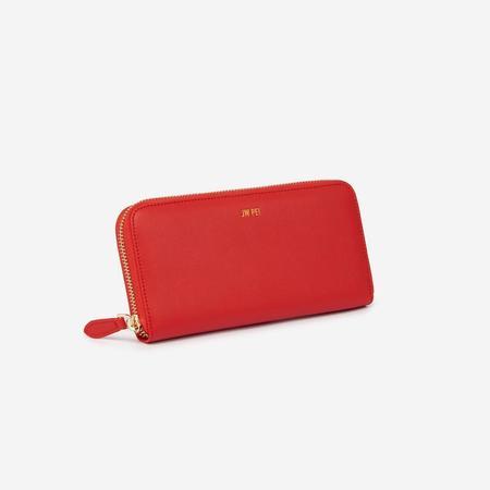 JW PEI Zipper Wallet - Red