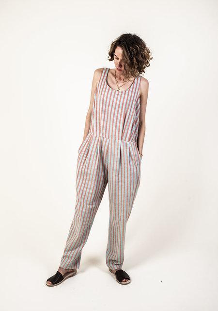 F O L D Jumpsuit - Mint Stripe