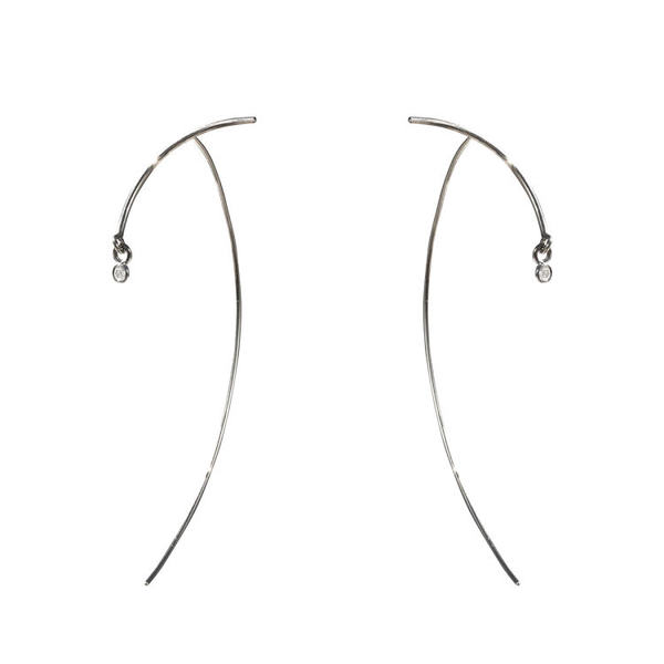 TARA 4779 Silver Arc Stabile Earring