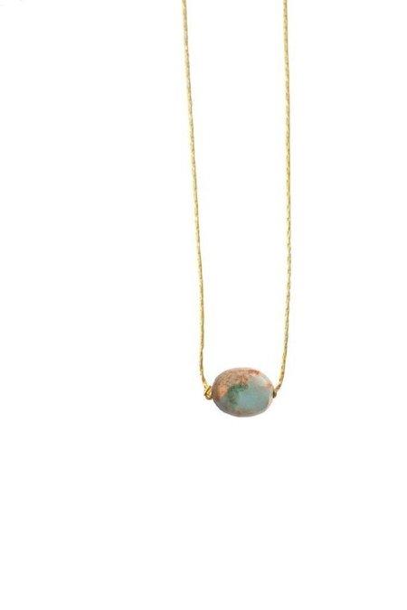 Marida Itty Bitty Necklace - Gold Fill/Blue Opal