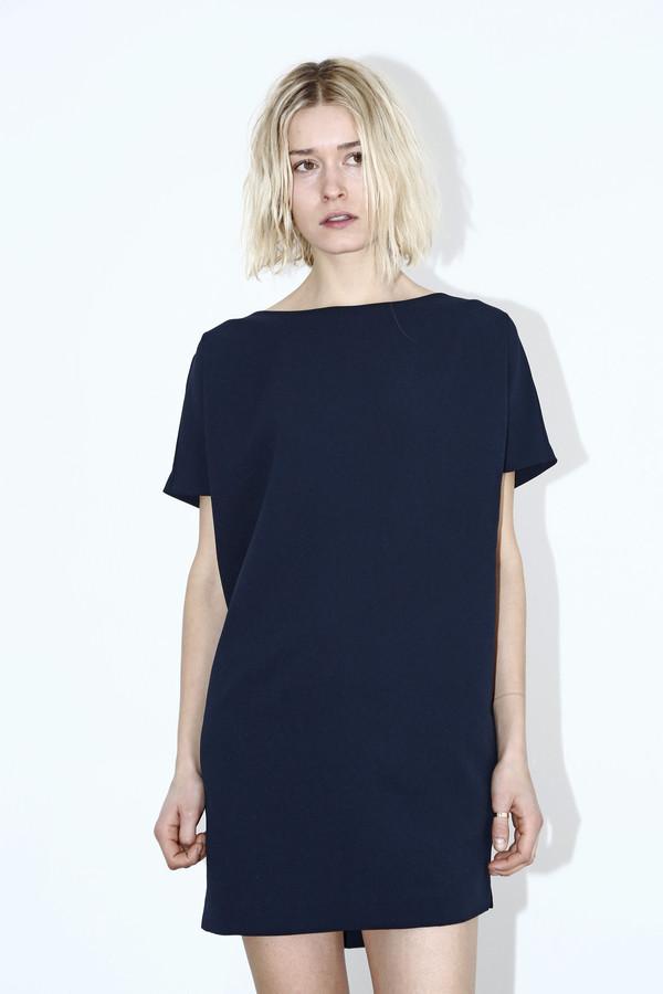 KAAREM Polyester Open Back Dress - Blue/Black