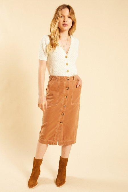 Free People Utility Skirt - Brown