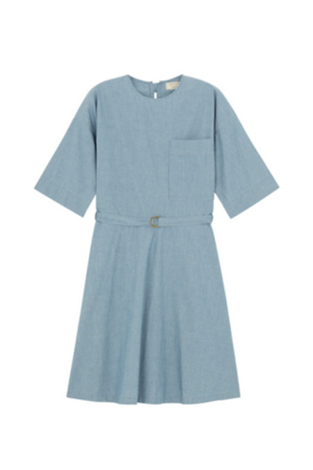 Kitsune Jade Loose Cut Dress | Chambray