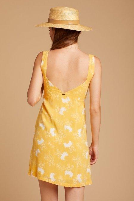 Saint Helena Cornsilk Lourdes Slip Dress - Floral