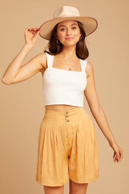 Free People Brittany LB Shorts - Gold