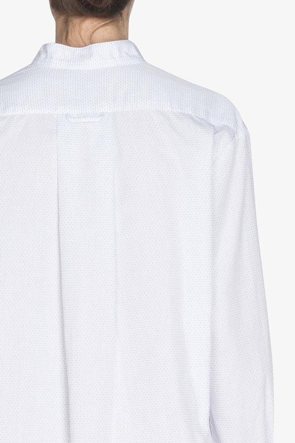 The Sleep Shirt Short Sleep Shirt Basket Weave Dot