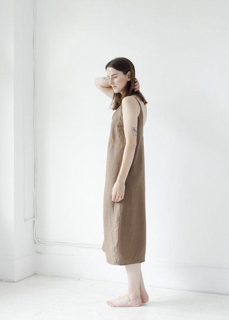 First Rite V-Camisole Dress - Cocoa