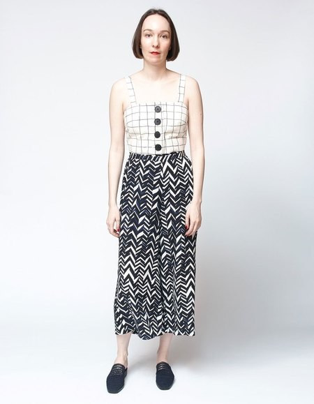 Bishop Collective Cropped Pant - Chevron