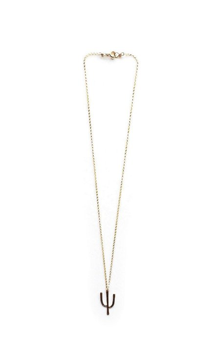 Brooke HIll Tucson Cactus Necklace - 14K Gold filled
