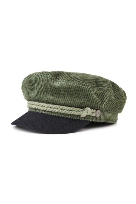 Brixton Fiddler Cap - Green Cord