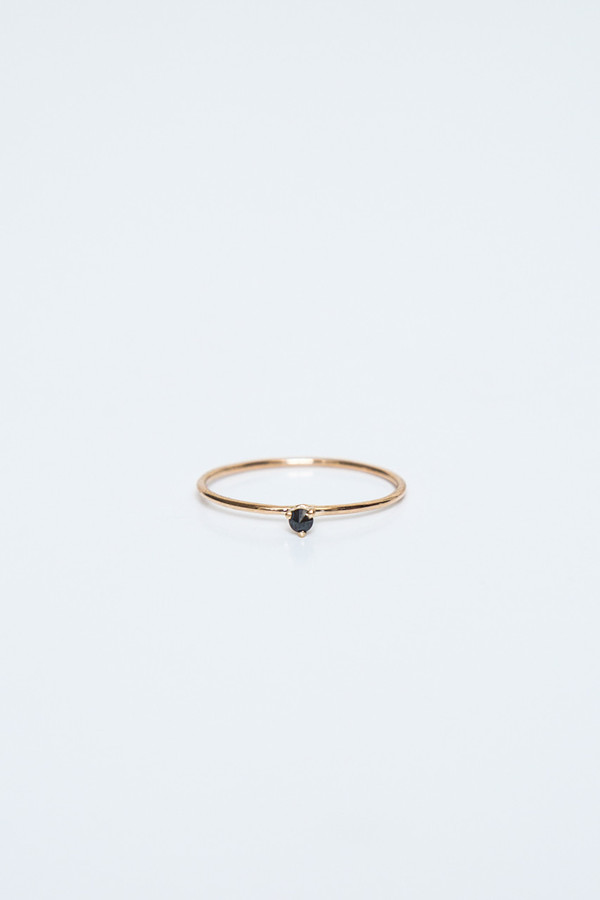 blanca monros gomez black diamond tiny solitaire ring
