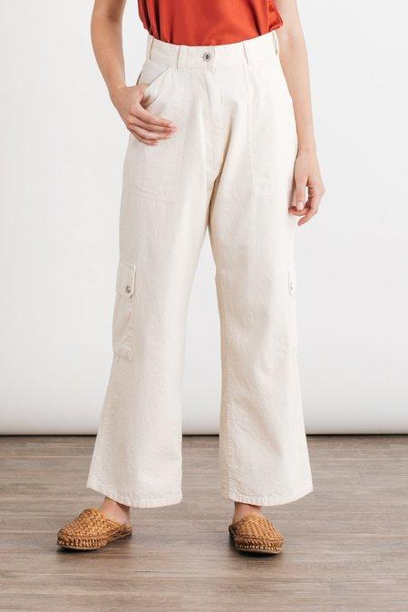 W'menswear Tropical Combat Pants - Off White