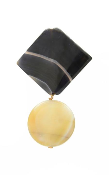 SVNR Alamo Earrings - Obsidian/Agate