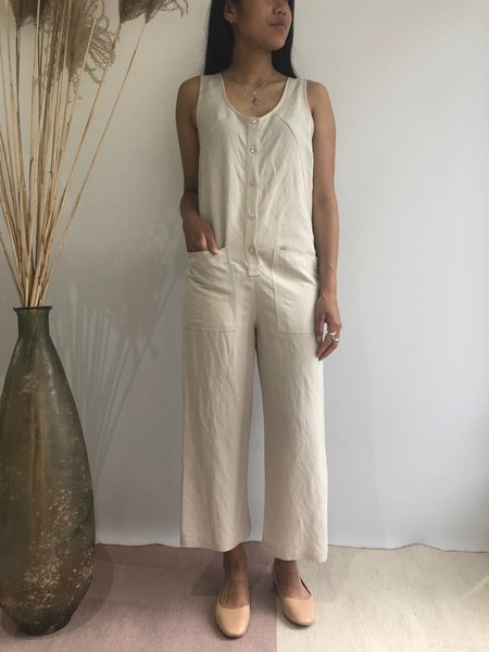 EVE GRAVEL MIDI JUMPSUIT - CLAY
