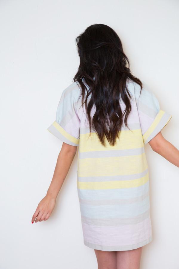 mara hoffman cotton pocket mini dress