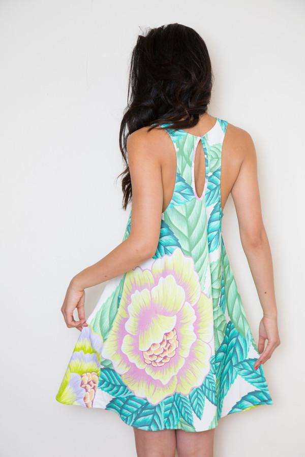 mara hoffman floral ponte swing dress