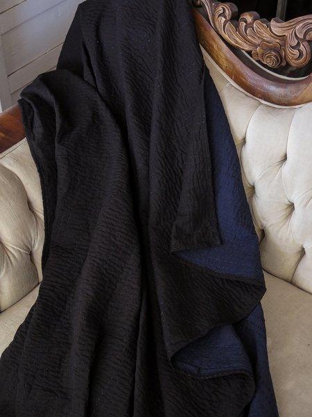 Erica Tanov signature kantha quilt - navy/black