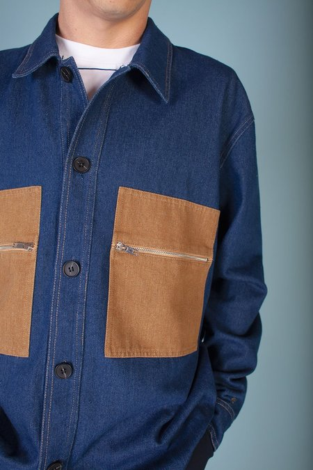 L.F.Markey Yaouk Cotton Overshirt - Indigo