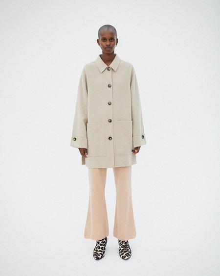 Nanushka MARZY Wool shirt coat - Stone