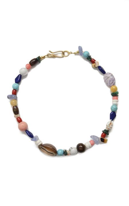 SVNR Cinqueterre Necklace - Agate/Shell/Quartz