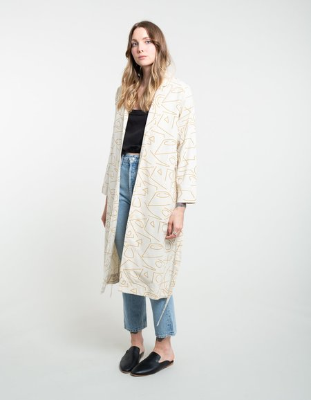 Ali Golden Notch Duster - Lines