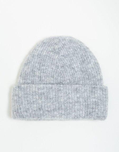 Ganni Soft Wool Knit Hat - Paloma Melange
