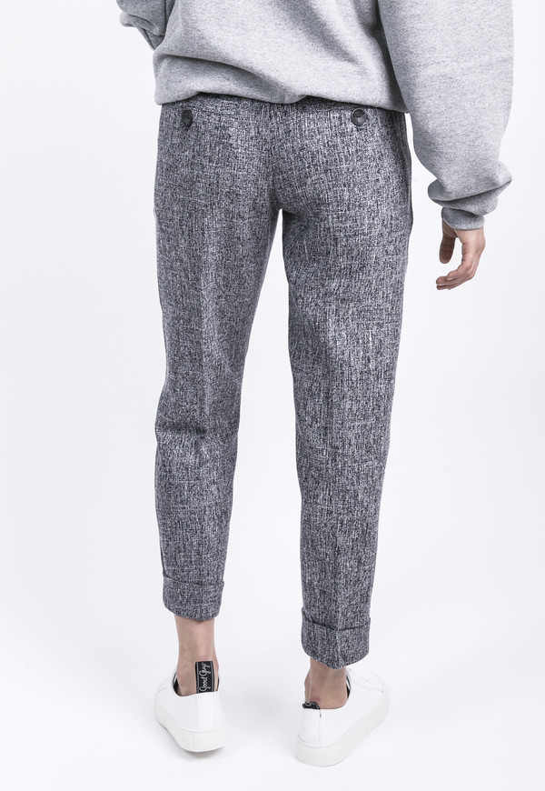 Unisex Heather Pleated Pants