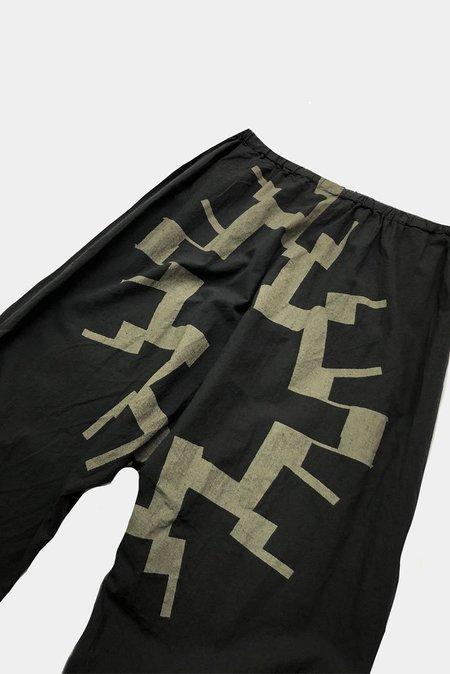 Uzi NYC Drop Crotch Pant - Sun Print