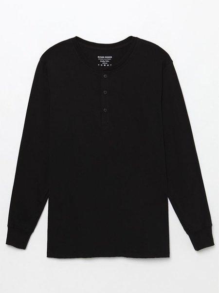 Richer Poorer Henley Long Sleeve - Black