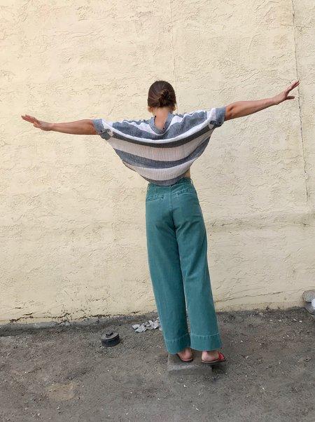 Caron Callahan Greene Pant - Green PIgment Dyed