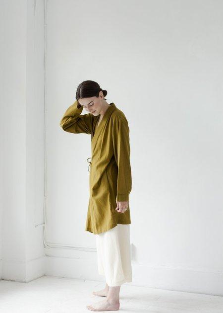 Black Crane Folk Jacket - Olive