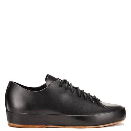 Feit Veg Tan Hand Sewn Low Sneaker - BLACK