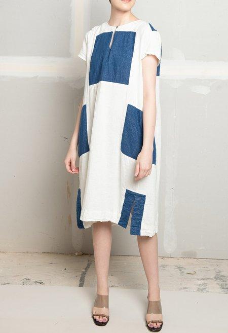 Atelier Delphine Atelier Dress - WHITE/INDIGO