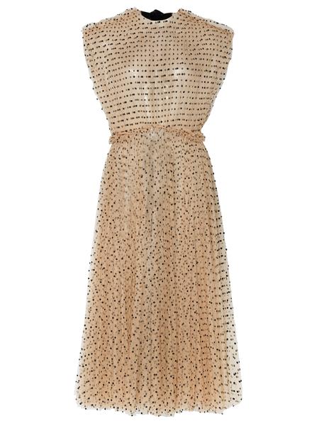 KHAITE Alix Halter Dress - Nude Flocked