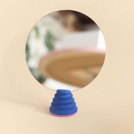 "Lindsey Hampton Mirror Stand 10"" - Blue"