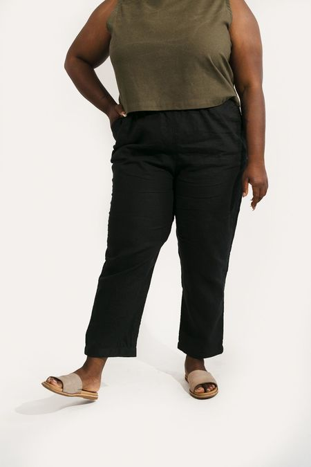 Two Fold Clothing Harris Tapered Leg Linen Pant