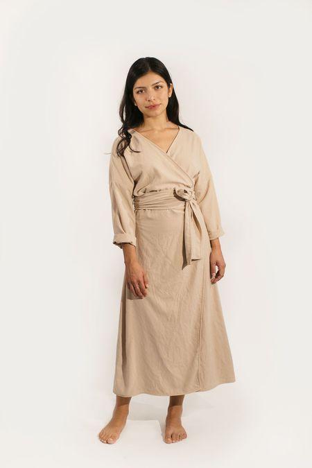 Two Fold Clothing Raw Silk Long Sleeve Clara Dress