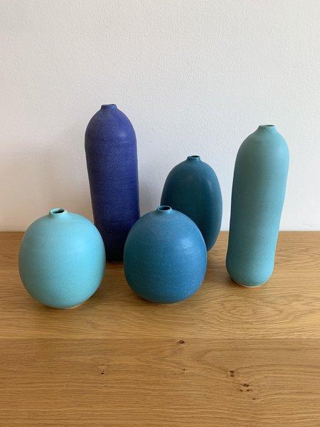 Judy Jackson Tall Bottle Vase - Turquoise