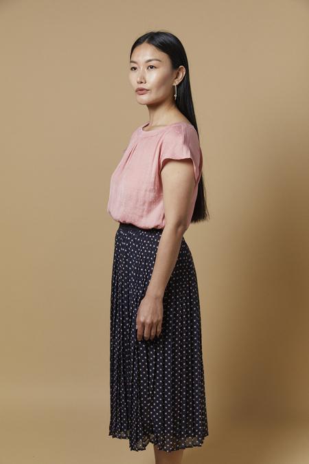 Ihnally Midi Skirt - Blue