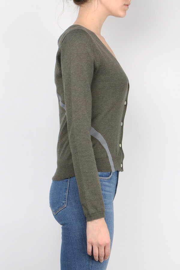 Sphere One Color Block Cardi