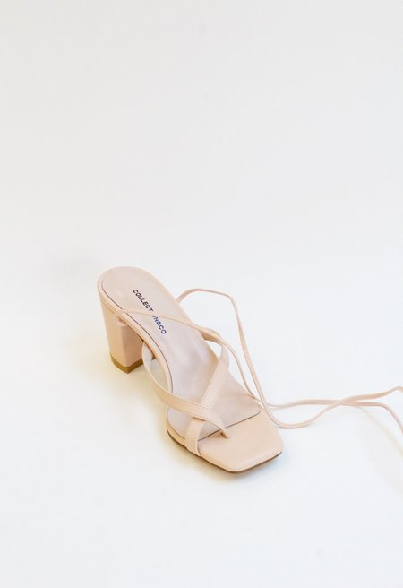 Collection & Co Chora Open Toe Mule - Blush