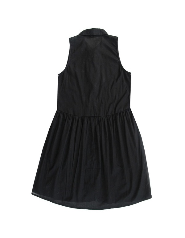 Ali Golden  BUTTON-DOWN DRESS - BLACK
