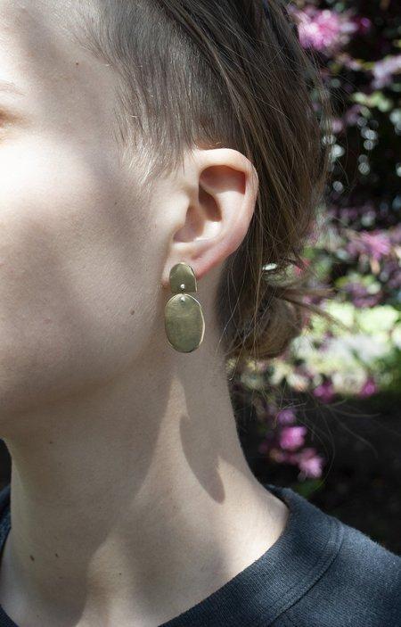 Seaworthy Azul Earrings Large - Brass/Sterling Silver