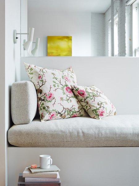 Erica Tanov lovebird throw pillow - natural