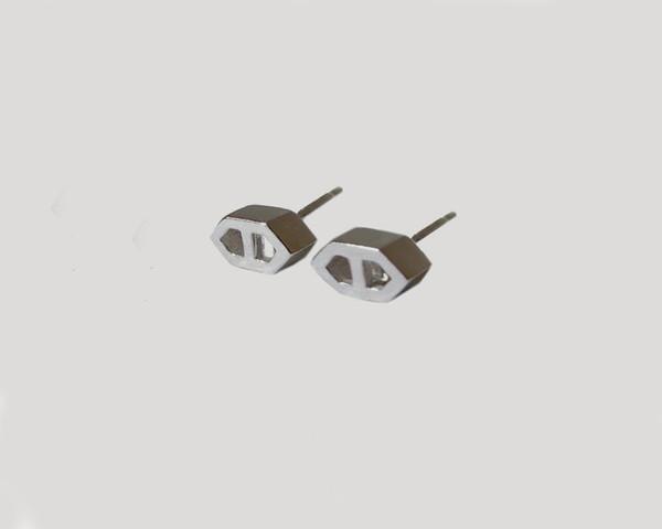 Lacar Mini Helm Earrings