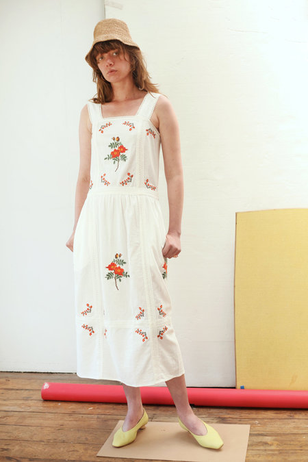 MEADOWS Wild Rose Dress - White
