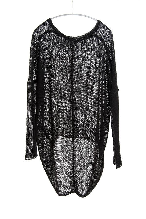 Paychi Guh Sheer Pullover Black