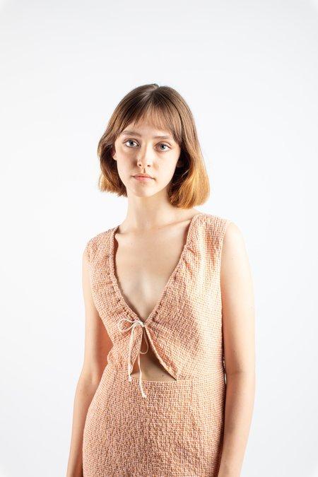 Paloma Wool Chambao dress - red micro plaid